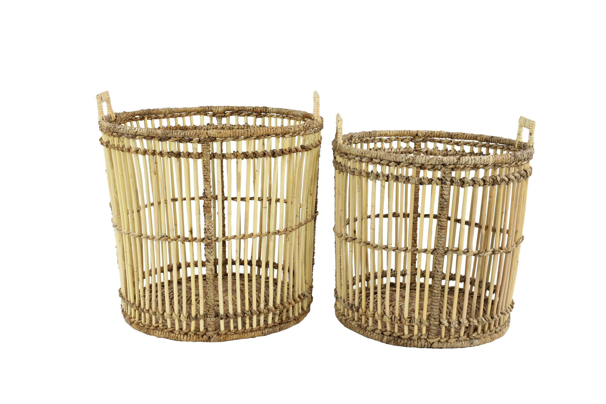 Birdcage 2 Piece Wicker Rattan Basket Set Allmodern