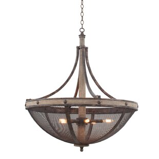 Kalco Coronado 6-Light Bowl Pendant