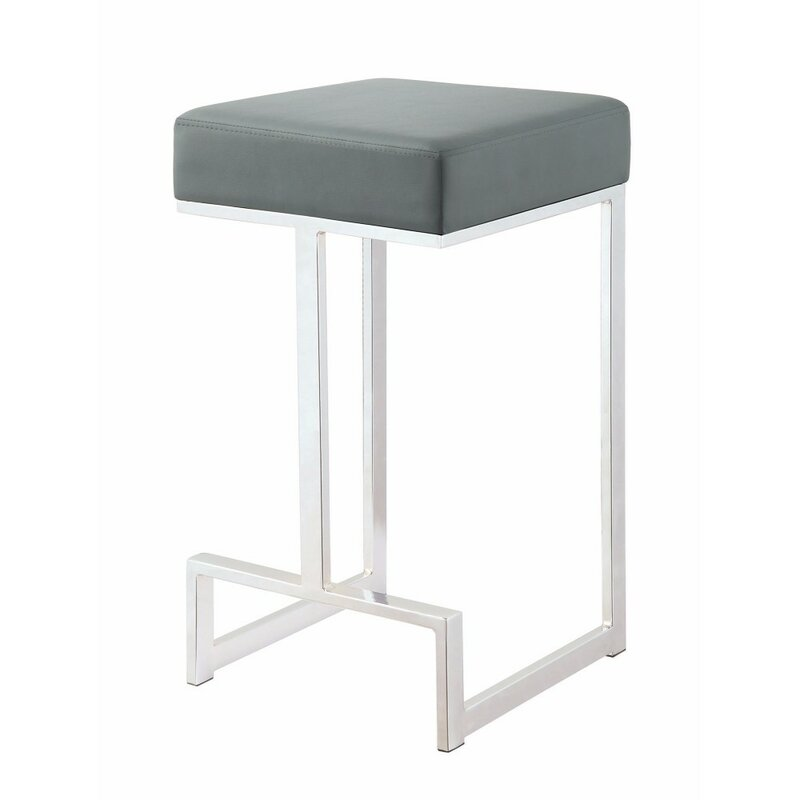Mercer41 Kerrick Metal 25 Counter Height Bar Stool Wayfair