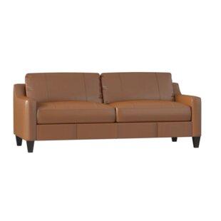 Bauman Leather Sofa by Brayden Studio
