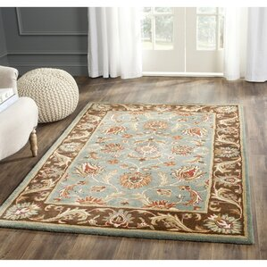 Cranmore Hand Tufted Blue Brown Area Rug