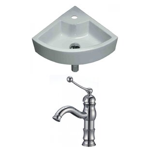 Check Prices Unique Specialty Ceramic Specialty Vessel Bathroom Sink with Faucet ByAmerican Imaginations