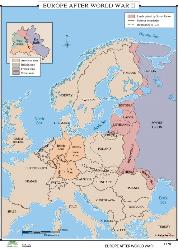 Universal map world history wall maps europe after world war ii world history wall maps europe after world war ii gumiabroncs Gallery