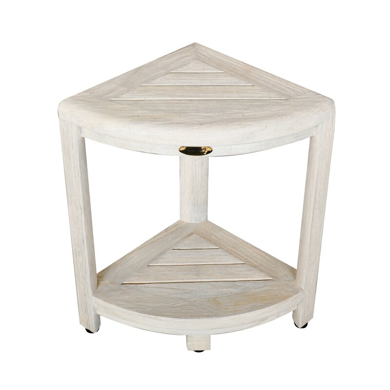Ecodecors Oasis Coastal Vogue 2 Tier Indoor Outdoor Teak Corner