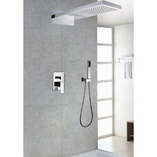 Sumerain International Group Contemporary/Modern Volume Control Rain Shower Head Complete Shower System