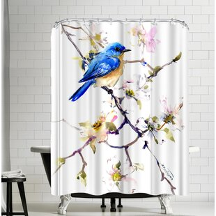 Suren Nersisyan Bluebird Single Shower Curtain
