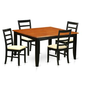 Parfait 5 Piece Dining Set by Wooden Importers Best