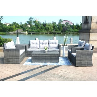 Mccall 6 Piece Rattan Sectional Seating Group