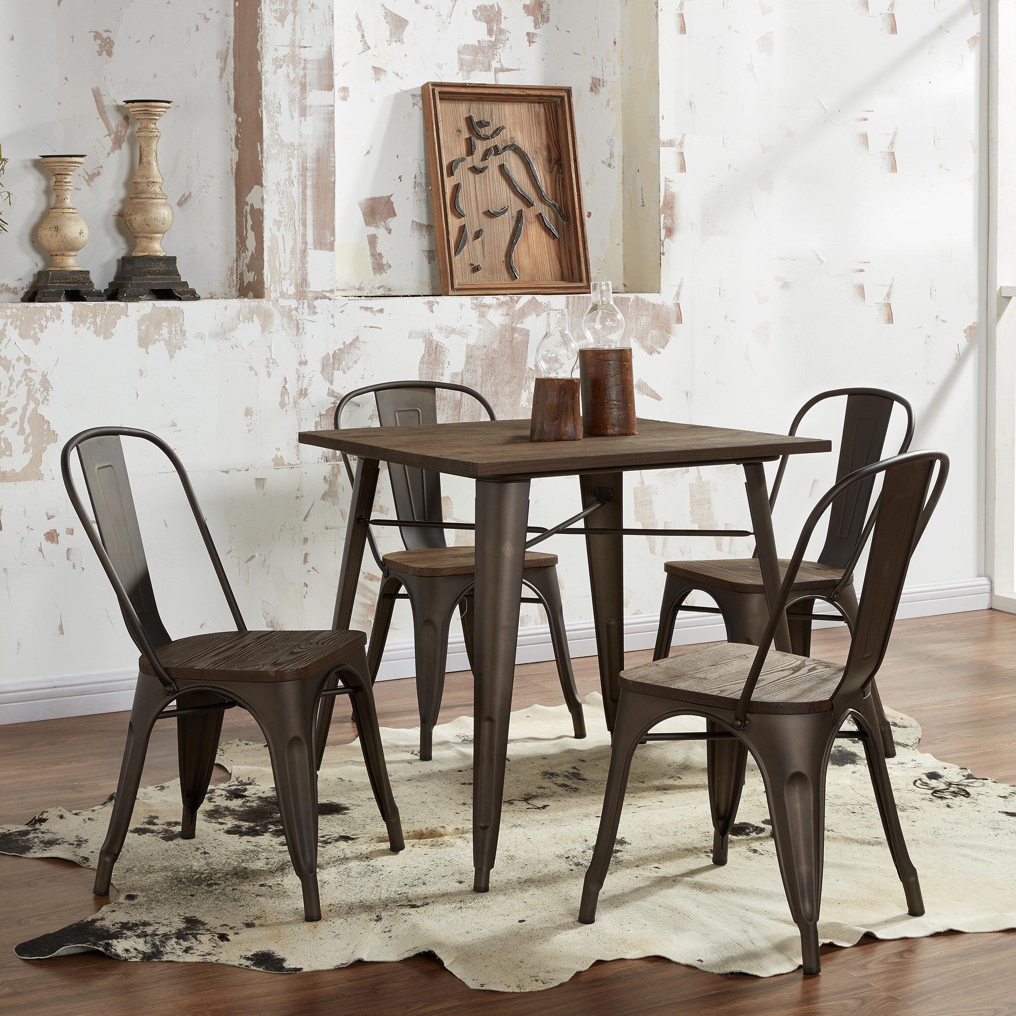 5 piece industrial dining set