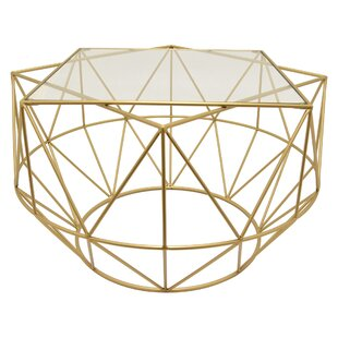 Read Reviews Piedmont Metal Glass Coffee Table by Brayden Studio