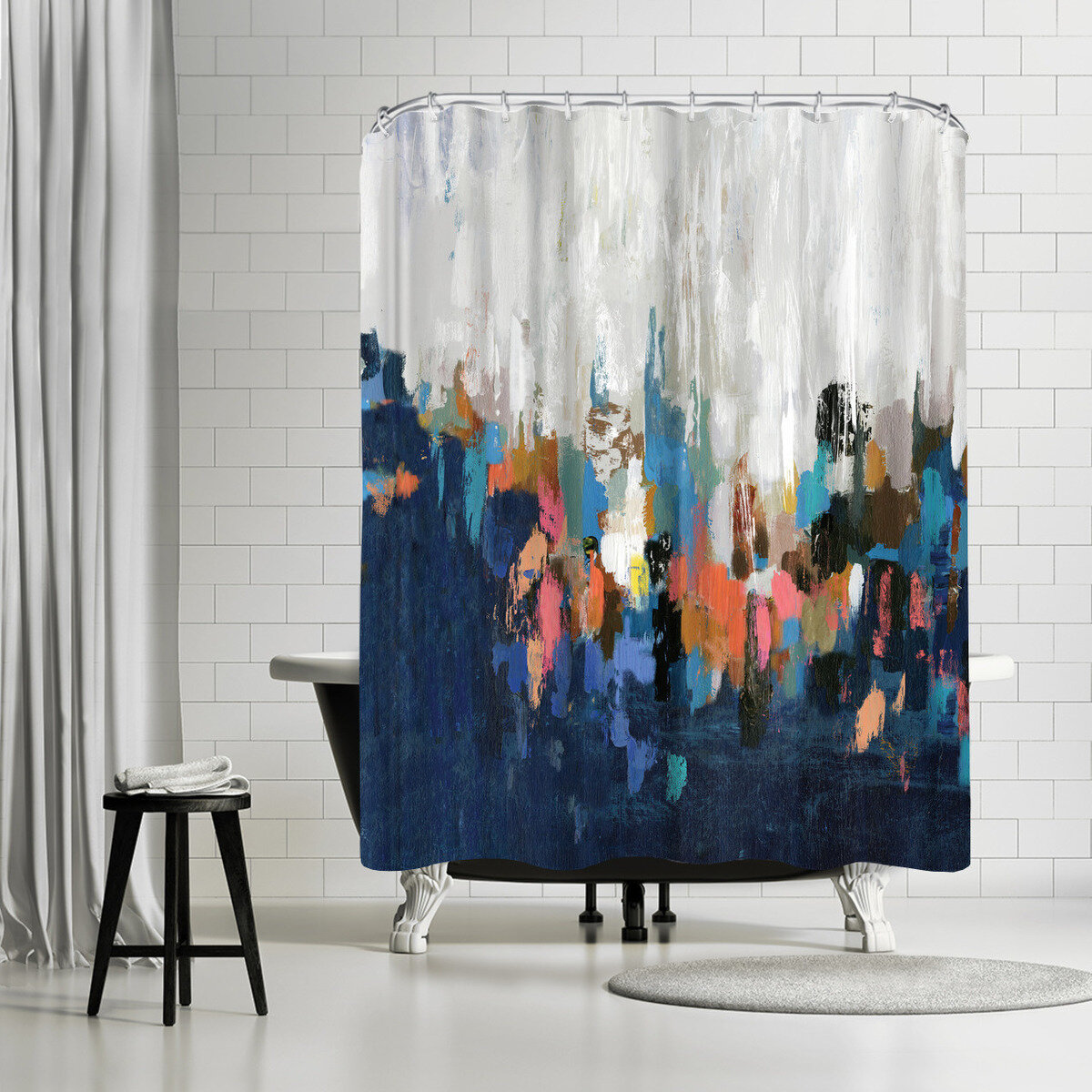 East Urban Home Pi Creative Art Speciality Ii Single Shower Curtain Wayfair