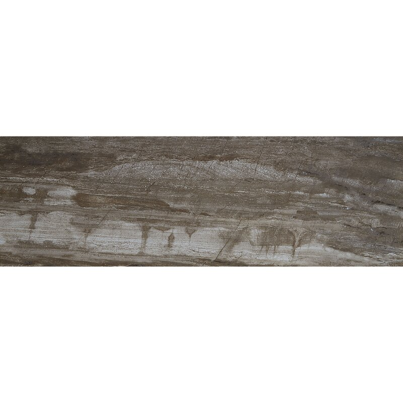 Itona Tile Mansfield 12 X 36 Porcelain Wood Look Tile In Smoky