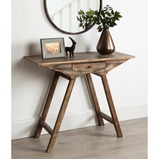 Pringle Chic Small Wooden Console Table by Union Rustic