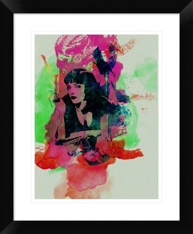 Naxart Mia Wallace Pulp Fiction Framed Graphic Art Print Wayfair