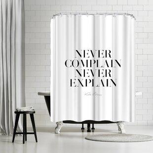East Urban Home Explicit Design Never Never Shower Curtain