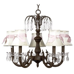 Water Fall 5-Light Shaded Chandelier by Jubilee Collection