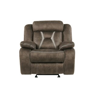 Jorman Stitched Fabric Manual Glider Recliner