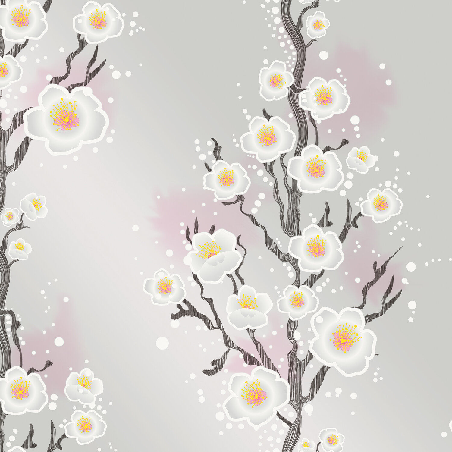 Tempaper Cherry Blossoms 27 L X W And Stick Wallpaper Roll Perigold