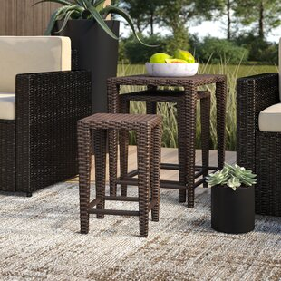 Kinslow Wicker/Rattan Side Table by Mercury Row