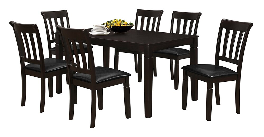 Wood Kitchen Tables And Chairs Red barrel studio winnetka espresso wood dining table reviews winnetka espresso wood dining table workwithnaturefo