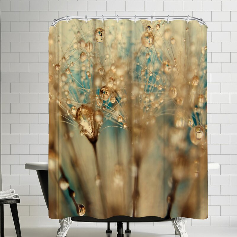 brushed gold shower curtain rod