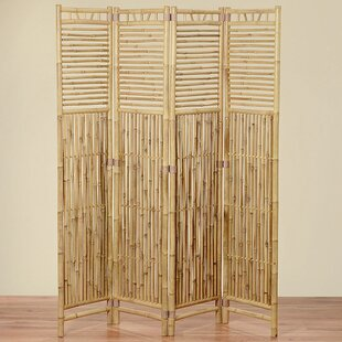 Hinson 4 Panel Room Divider by Bayou Breeze