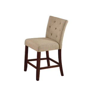 Bannock Counter Height Upholstered Dining Chair (Set of 2) by Alcott Hill