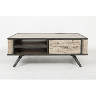 Conkle Wood and Metal Coffee Table