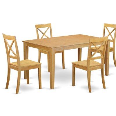 Smyrna 5 Piece Dining Set Charlton Home Color: Oak