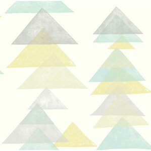 "Baby & Kids Triangles 33' x 20.5"" Wallpaper Roll"