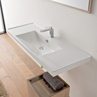 Compare ML Ceramic Rectangular Drop-In Bathroom Sink with Overflow ByScarabeo by Nameeks