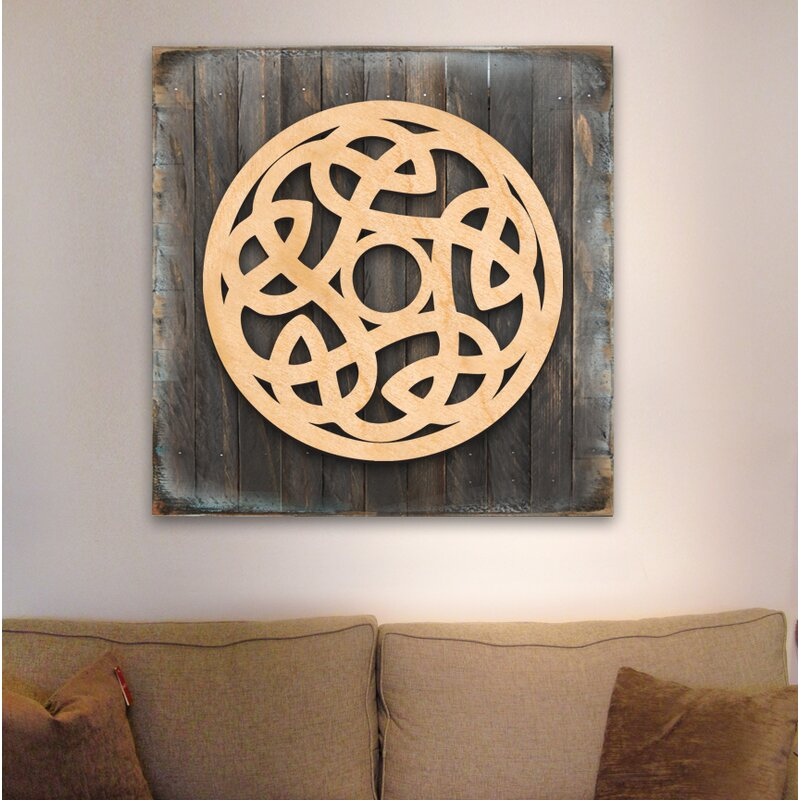 World Menagerie Celtic Spiral Wood Box Sign Wall Decor | Wayfair