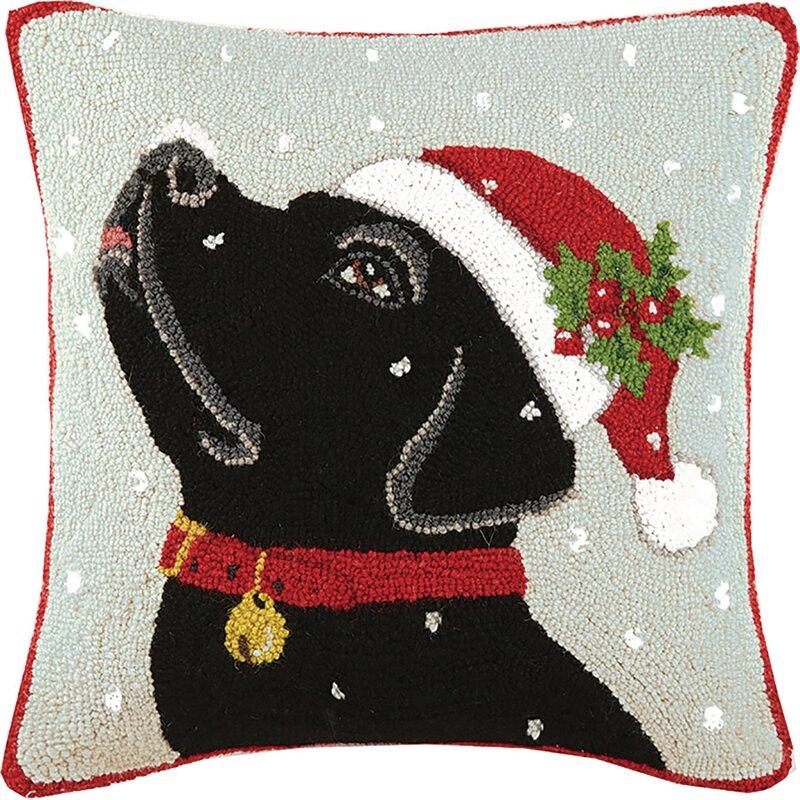 Mary Lake Thompson Labrador Hook Wool Throw Pillow Reviews Wayfair