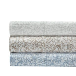 Shop Alexis Paisley Print 400 Thread Count 100% Cotton 6 Piece Sheet Set By The Twillery Co.