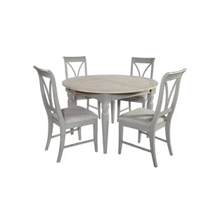 Review Brehm Extendable Dining Set With 4 Chairs