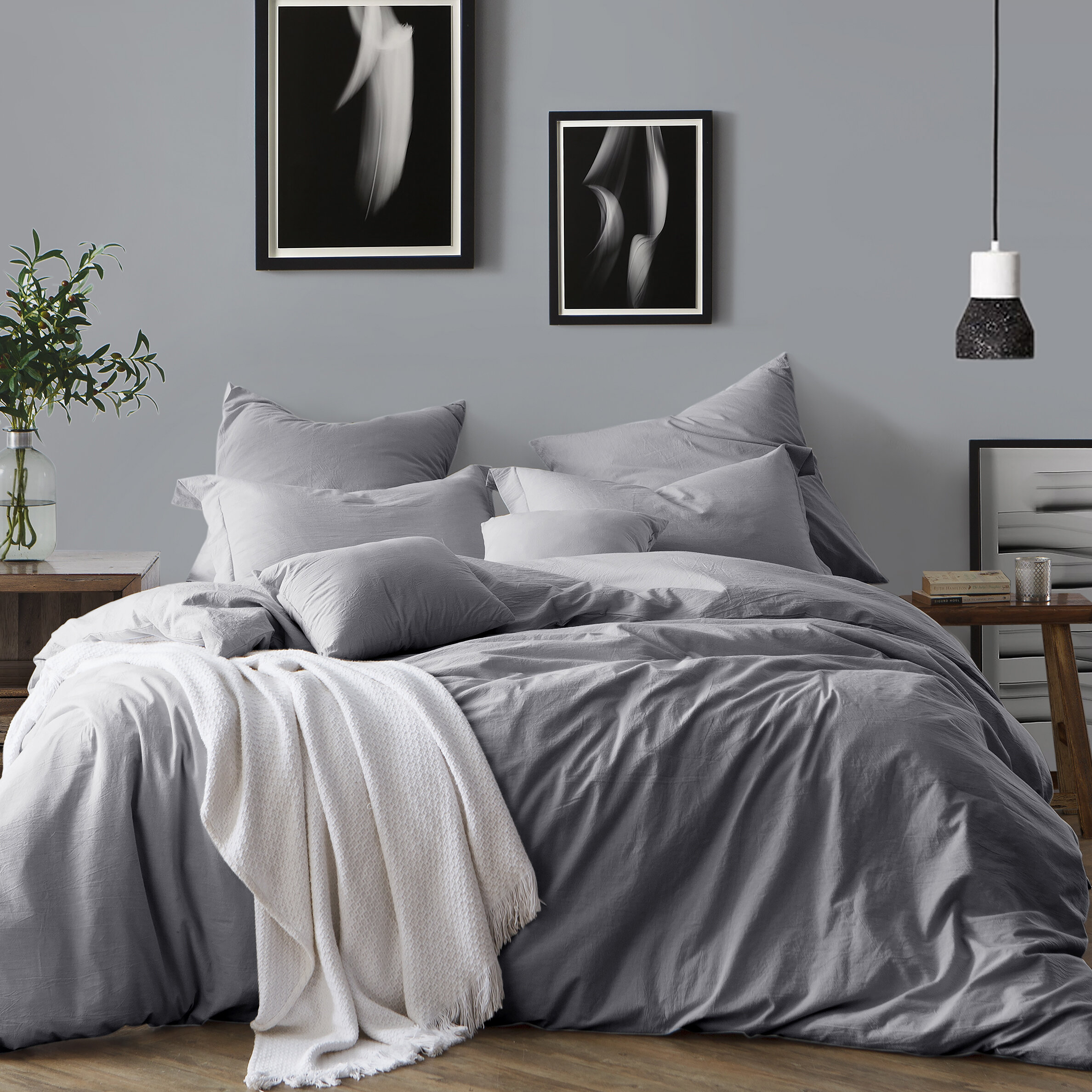 Modern Gray Silver Yellow Gold Bedding Sets Allmodern