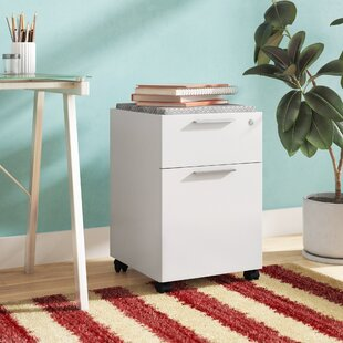Affordable Heyworth 2-Drawer Assembled Mobile Pedestal Vertical Filing Cabinet by Comm Office