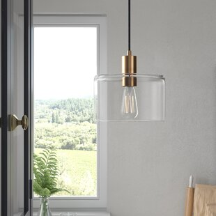 Bee 1-Light Cylinder Pendant by Andover Mills