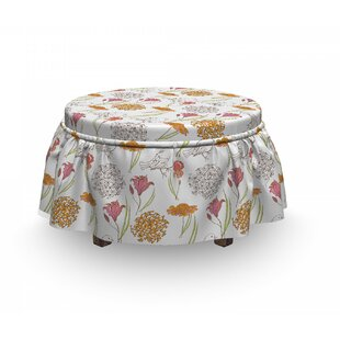 Spring D Foliage Ottoman Slipcover (Set Of 2) By East Urban Home