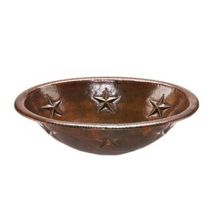 Premier Copper Products Star Metal Oval Drop-In Bathroom Sink