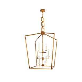 Everly Quinn Isoline 6-Light Geometric Pendant