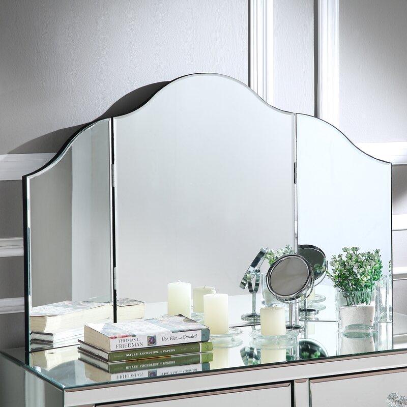 Tri Fold Irregular Makeup Mirror