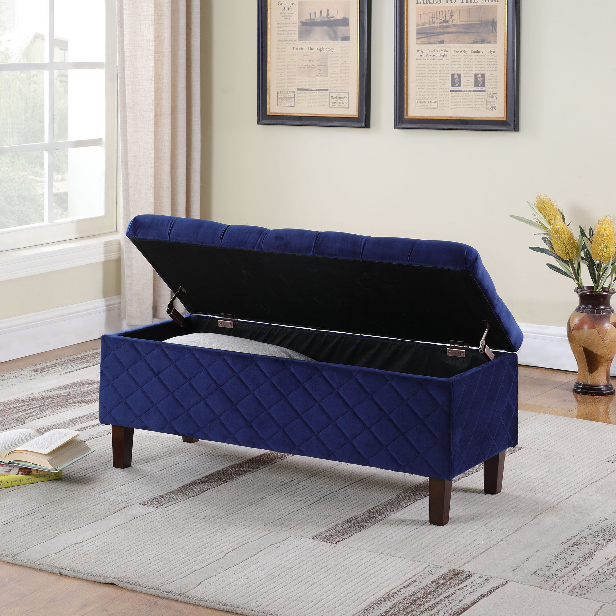 Canaan Upholstered Storage Bench
