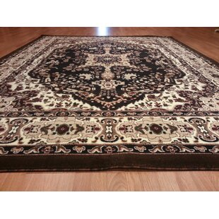 Hand-Carved Black Area Rug by Rug Tycoon