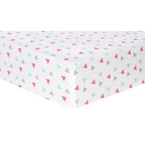 Triangles Deluxe Flannel Fitted Crib Sheet