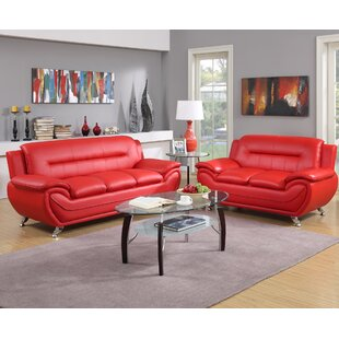 Red Leather Living Room Sets Youu0027ll Love | Wayfair