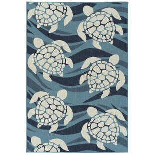 Augu Blue Indoor/Outdoor Area Rug