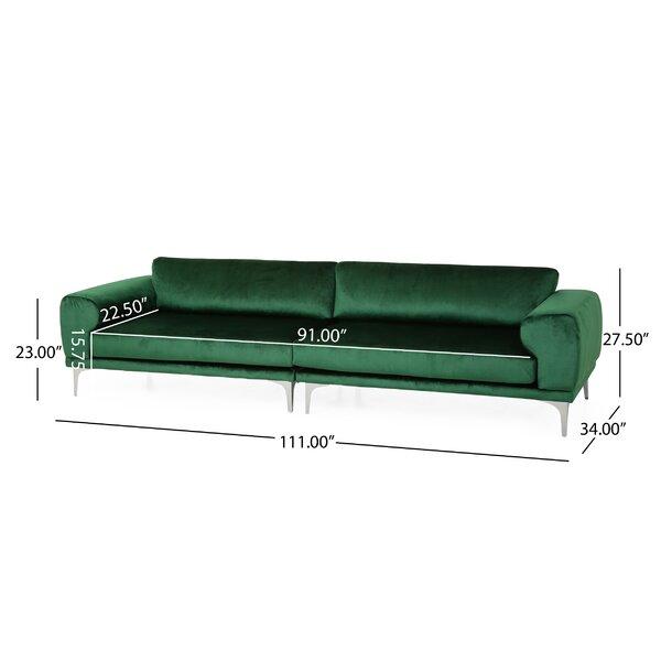 Orren Ellis 111 Rolled Arm Sofa Wayfair