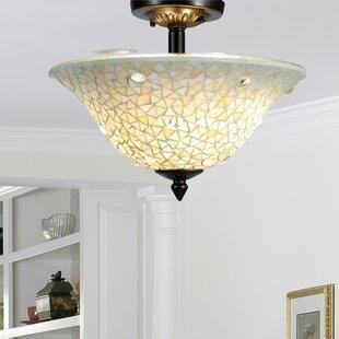 Jeweled 3-Light Semi Flush Mount by Springdale Lighting