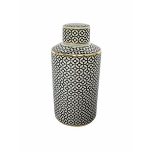 Trendy Ceramic Covered Storage Jar